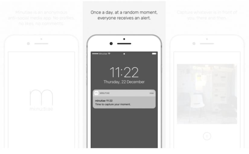 minutiae iOS App 賞賛されていない生活を切り取る