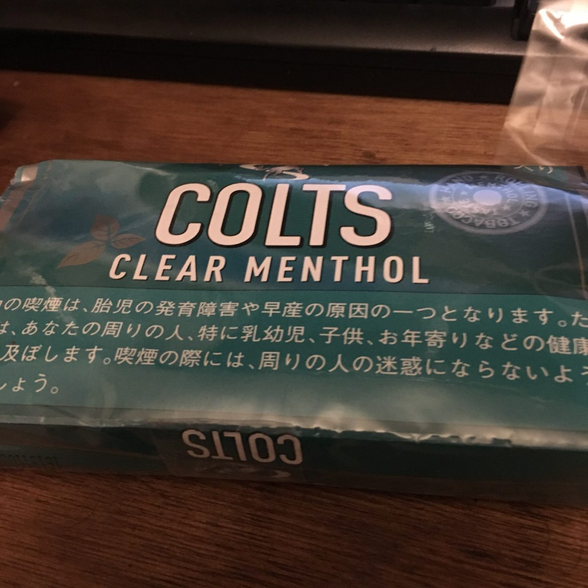 COLTS CLEAR MENTHOL